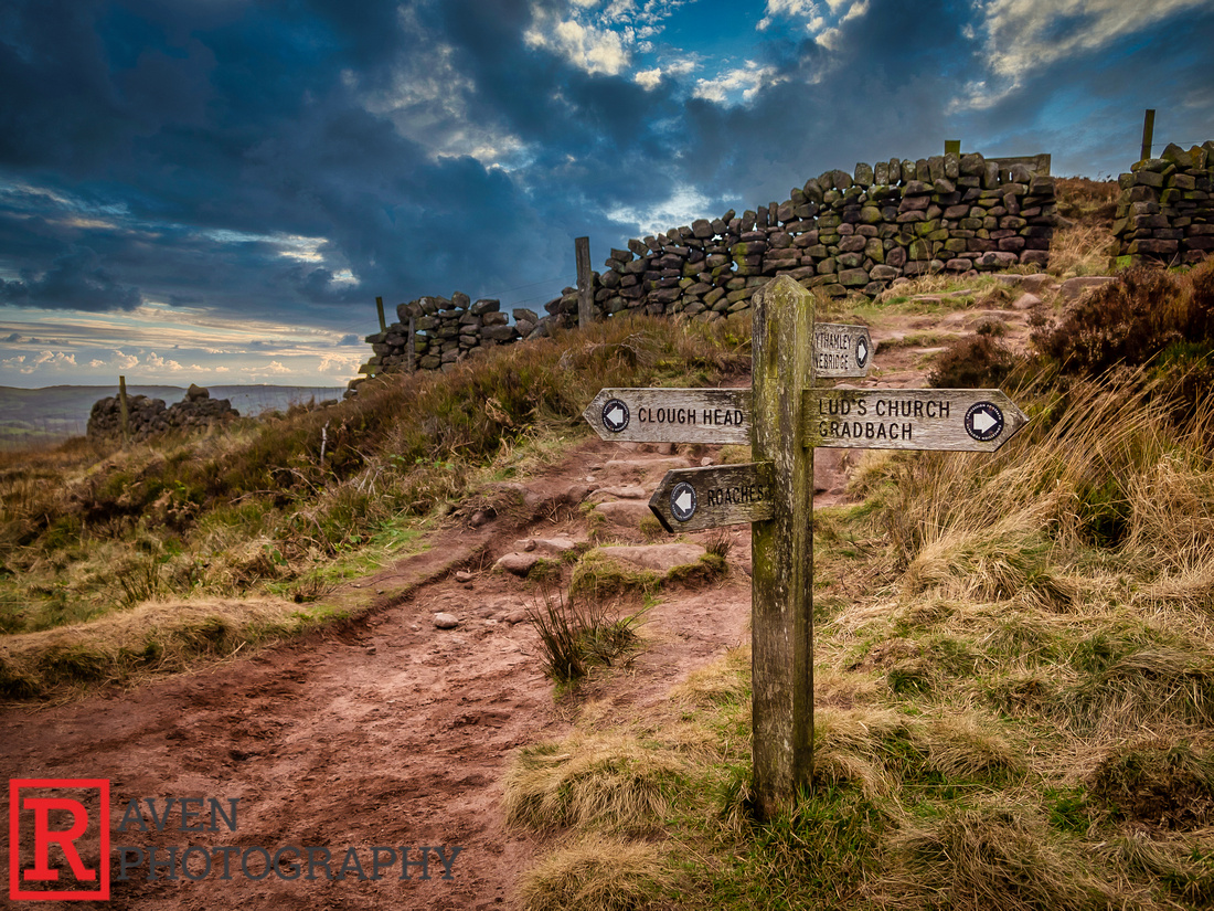 Sign Post, The Roaches, The Peak District